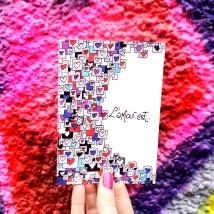 L'amour est... carte